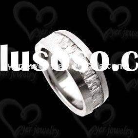 2011 hot women's cz rings jewelry in stainless steel jewelry