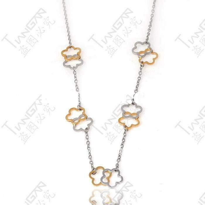 2011 new hot sale fashion gift girl&woman 316lstainless steel costume vintage gold flower jewelr