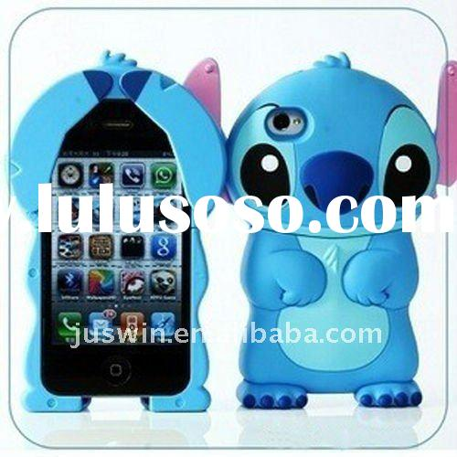 2011 newest high quality,factory price Cell phone case for Apple iPhone 4 4g 4S,Fashion 3D Stitch ca