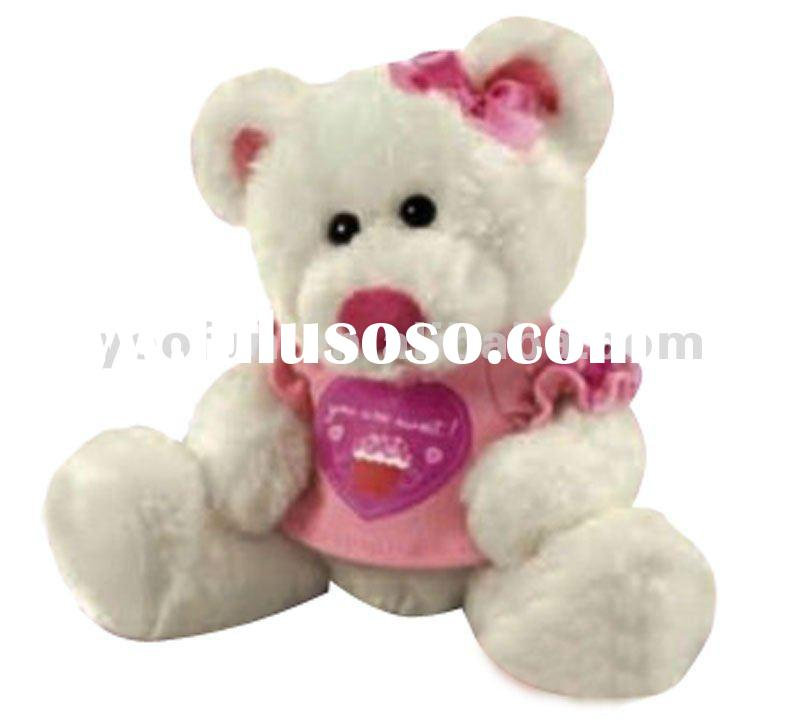 2012 Best Soft Plush Teddy bear in sweet T shirt