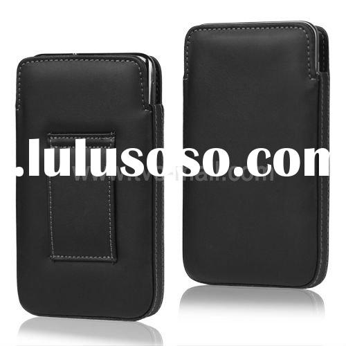 2012 New Cell Phone Leather Pouch For Samsung Galaxy Note i9220