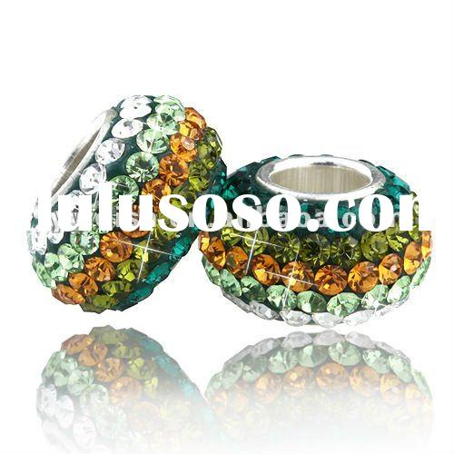 2012 New Style Crystal Beads With 925 Sterling Silver Cored ,Fashion Beads ,SIZE 7MM*12MM
