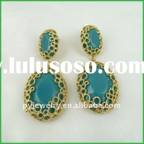 2012 New Trendy Blue Lady Earrings Accessory,Fashion jewelry