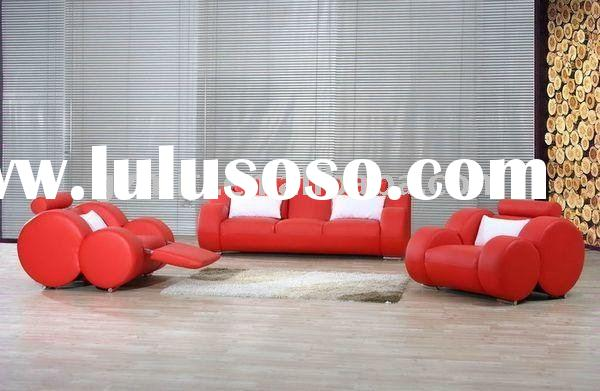 2012 New design modern sofa set red leather
