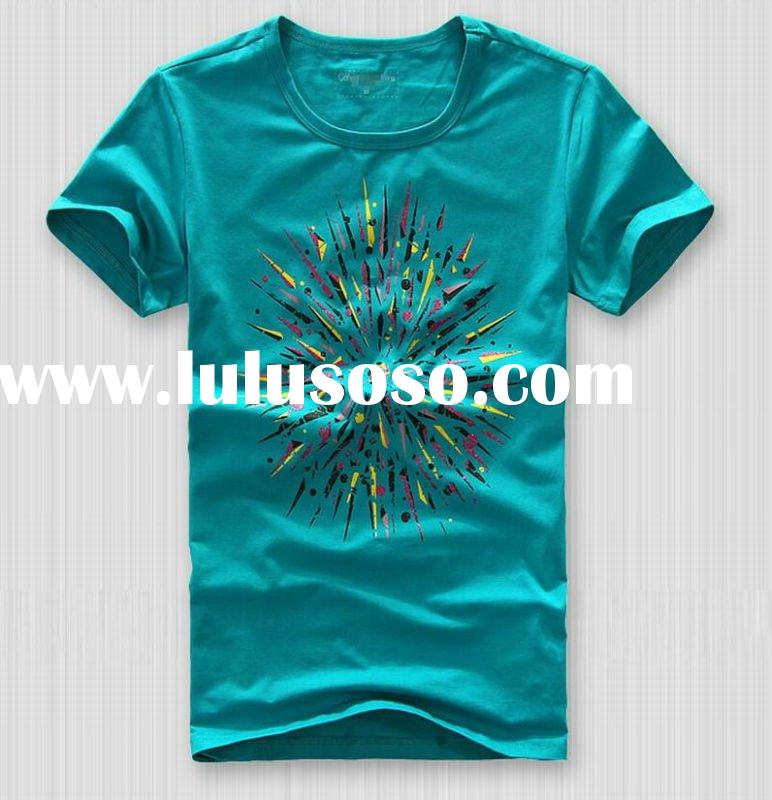 2012 hot sale fashion men's cotton t-shirts newest designed printing