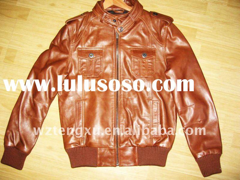 2012 new style leather jackets for ladies