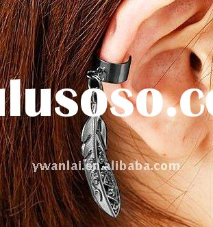 2012 trendy high fashion jewelry vintage filigree leaf ear cuff no piercing earrings factory direct
