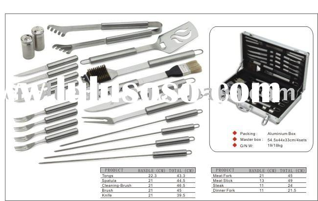 20PC BARBEQUE TOOLS/ BBQ PLATE/ BBQ TONGS/ GRILL / GRILLE/ BBQ GRILL