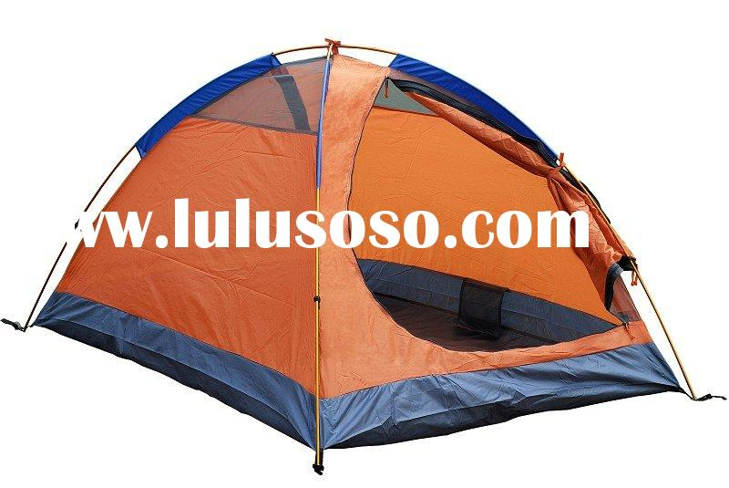 2-3 Person Two Doors Double Skin Alloy Pole Outdoor Tent