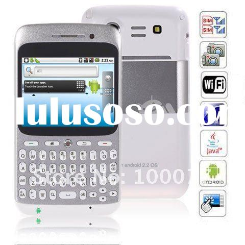 2.6 inch A8 Android 2.2 Wifi Java AGPS Dual Cards QWERTY keyboard Touch Screen Smart Phone (White)(C