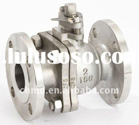 2 Pieces Type High Mounting Pad Flange SS Ball Valve