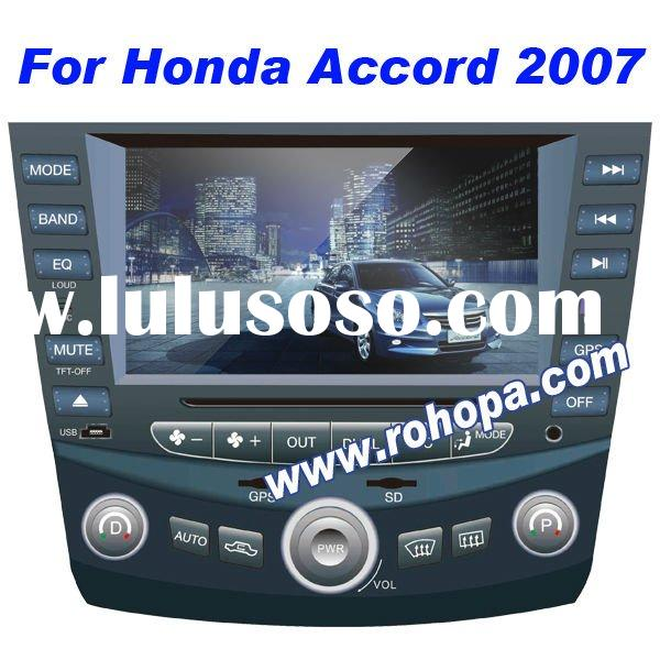2 din 7 inch car dvd player for Honda accord 2007/BYD F6 with 8 OSD language/RDS/ipod/GPS/bluetooth