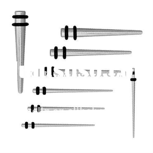 316L Surgical Steel Spike Tapers .body jewelry,ear expander