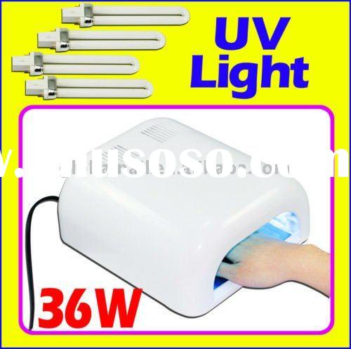 36W UV GEL CURING LAMP LIGHT NAIL DRYER +4 PCS BULB