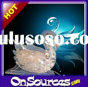3d crystal puzzle swan instructions