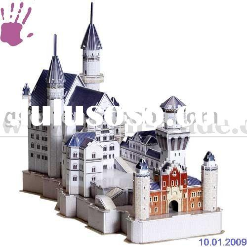 3d crystal puzzle castle instructions