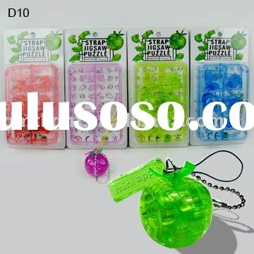 3D crystal apple puzzle mobile phone chain