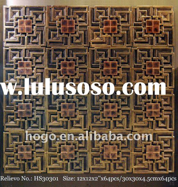 3D leather wall plaque / Decorative wall panel /Sculpture decorative board