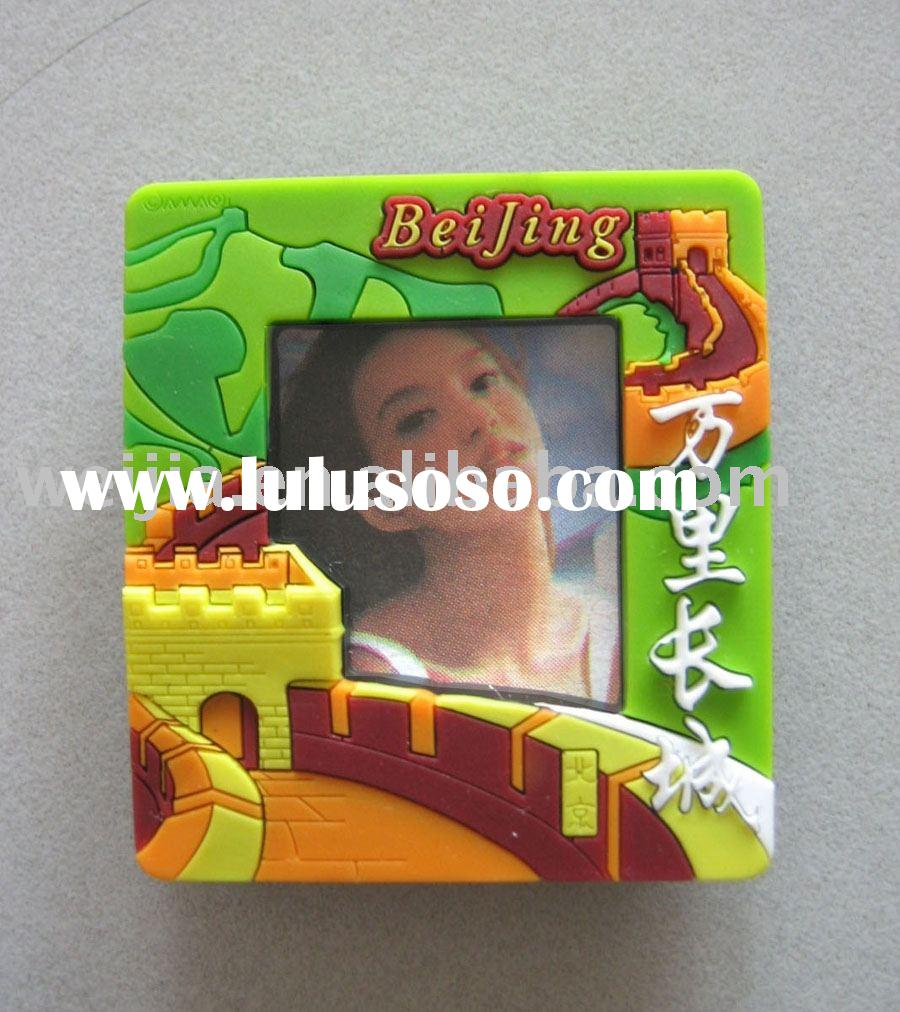 3D magnet photo frame,plastic photo frame sticker,fridge magnet