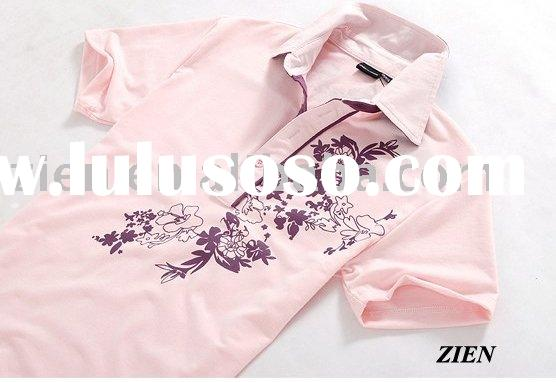 4 color short-sleeve men's printed polo t shirt