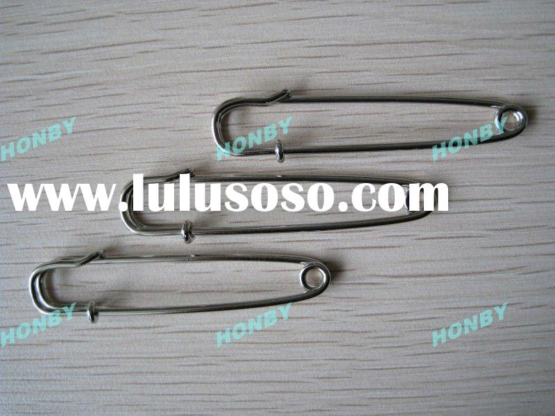 50mm stainless steel brooch safety pin for jewelry making