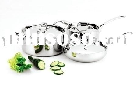6 PCS Tri-ply Stainless Steel Cookware Sets