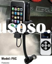 6-in-1 Car kit FM Transmitter, Car travel Charger, Car Holder for ipod+ iphone 3G,3GS