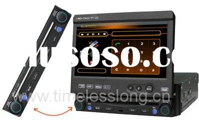 "7"" 1 DIN in dash car dvd player with detachable panel"