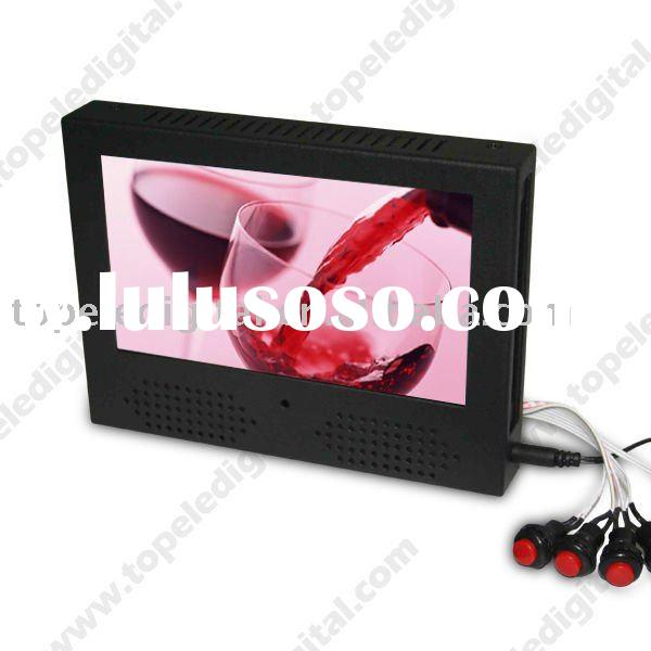 7'' small advertising lcd tv video screen for supermarket goods shelf with holder/br