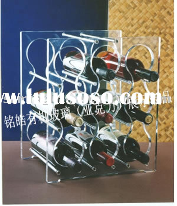 9 Bottle Stackable Acrylic Wine Rack