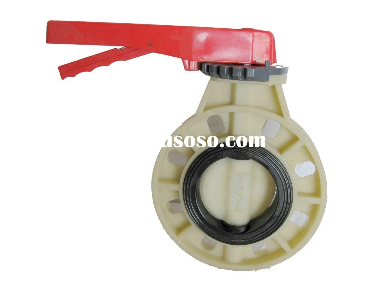 ABS butterfly valve A (lever handle type)/plastic butterfly valve