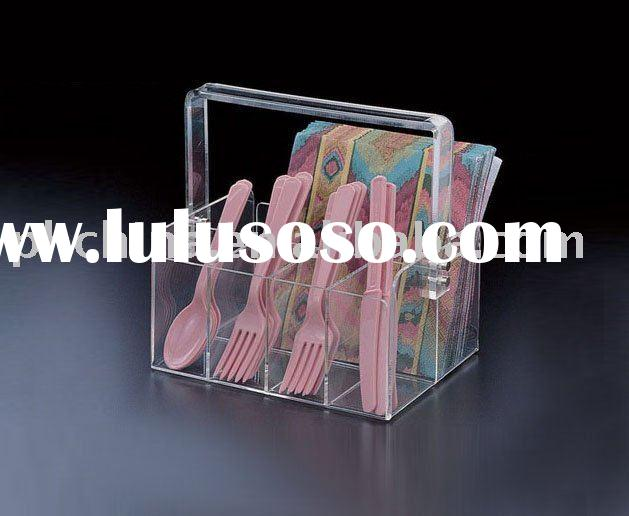 Acrylic Spoon Holder,Acrylic Tray,Acrylic Case With Handle