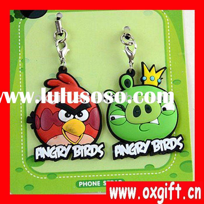 Animal shapes Fashion 3d Soft Pvc key chain