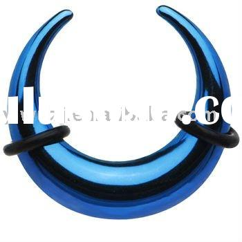 Anodized Blue 316l stainless steel Spiral Taper,ear expander body jewelry,ear stretcher body piercin