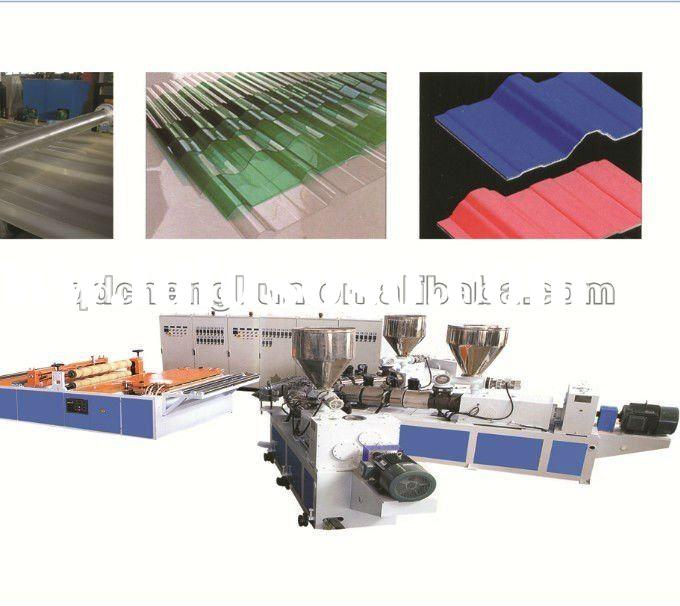 Automatic PVC wavy roof extruder/plastic wavy sheet machine