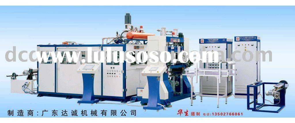 Automatic thermoforming machine with punching unit