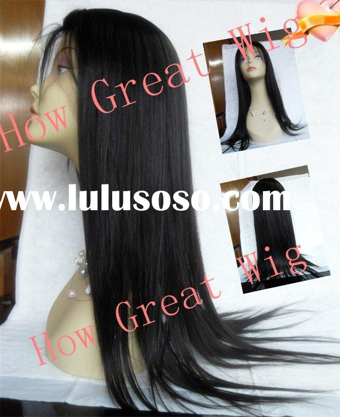 Beautiful curly Indian remy hair lace wigs for black woman accept paypal