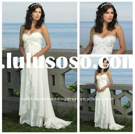 Best Selling Wedding Dresses Beach Style Floor-length
