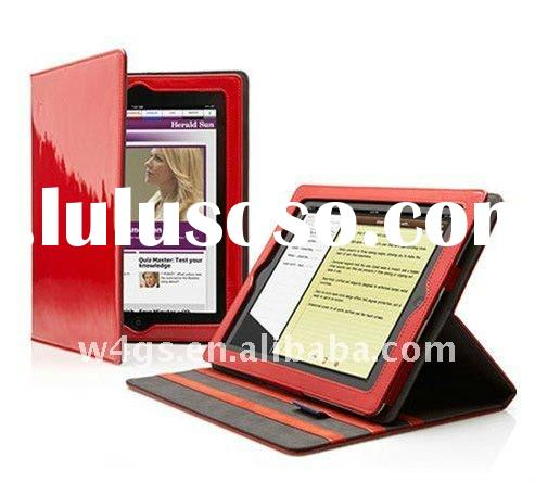 Best selling Foldable leather case for iPad 2 case wholesale,shipping free