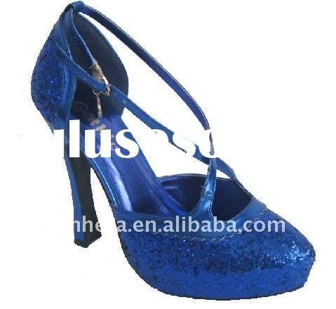 Blue Fashion 2011 high heel women dress shoes/fashion high heel shoes
