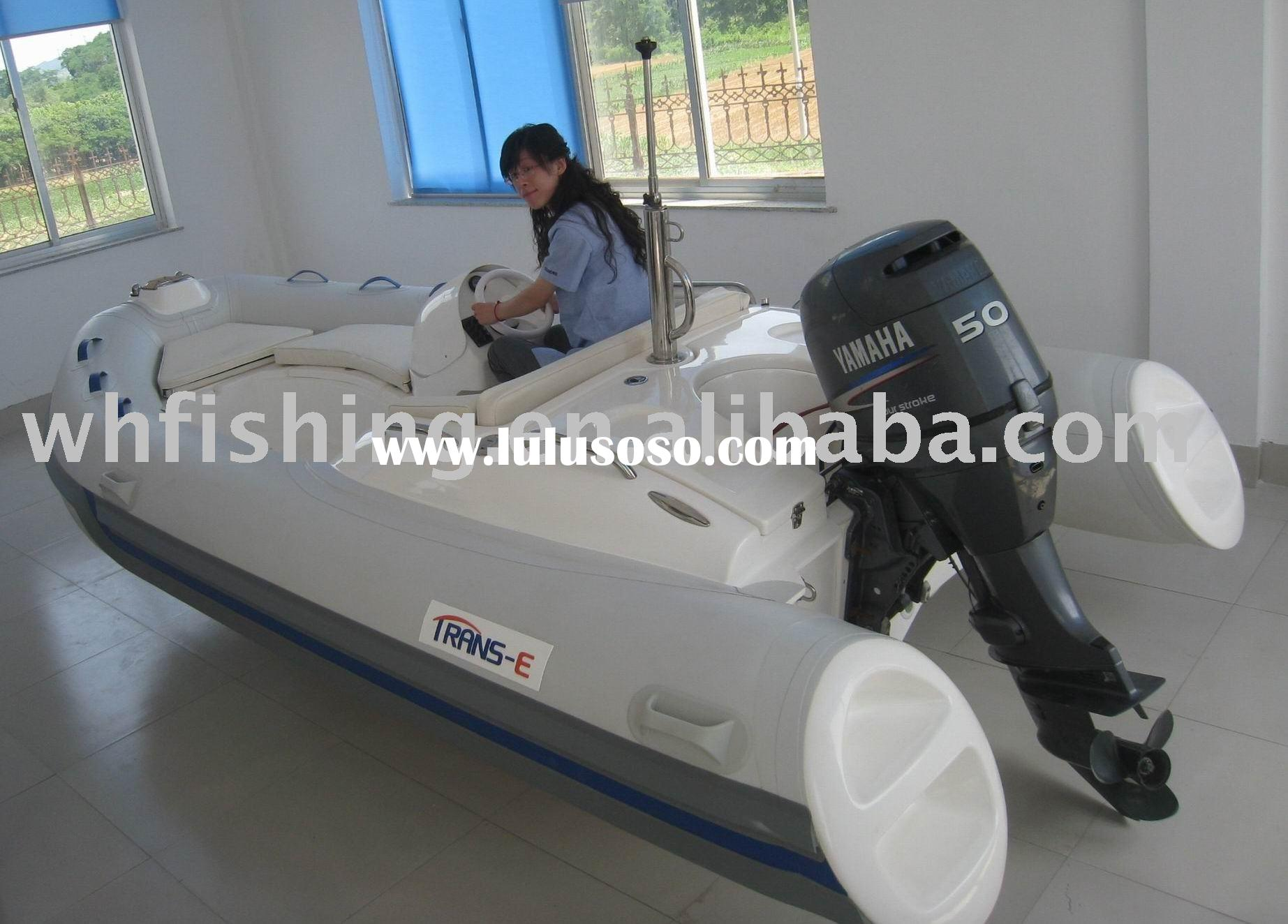 Boat RIB-420 with inflatable PVC tube and console