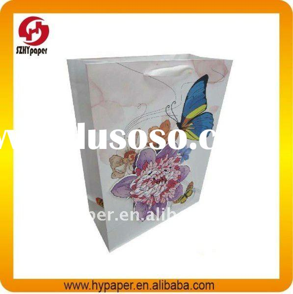 Butterfly paper gift bags printing