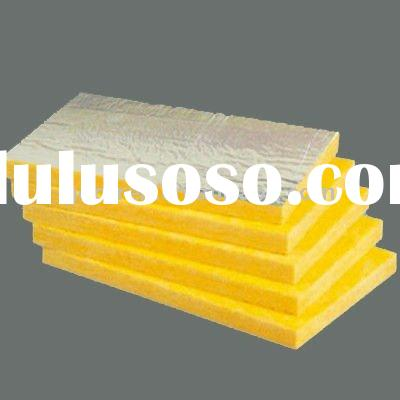 CE certified air conditioner duct glass wool board thermal insulation- 80kg/m3,25mm