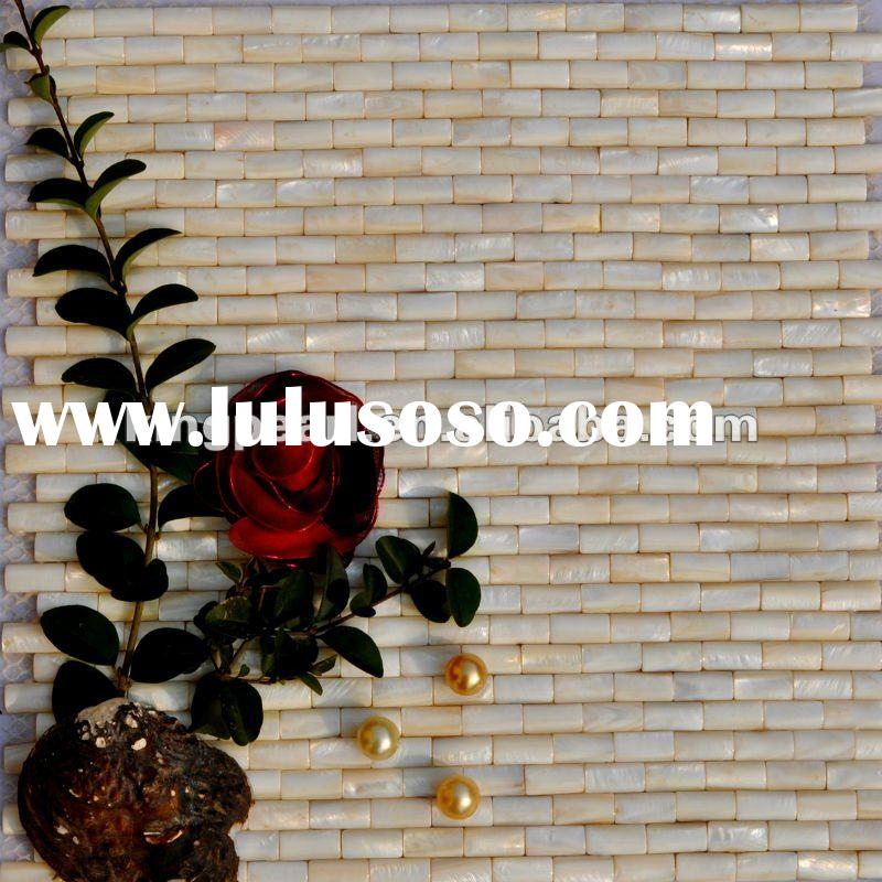 Convex freshwater Mother of pearl mosaic tile