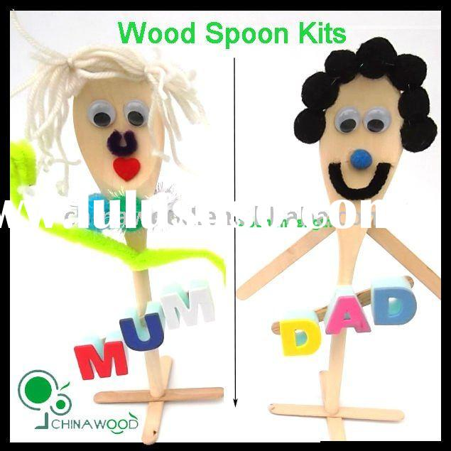Craft Wood Spoon Kits for Kids DIY project