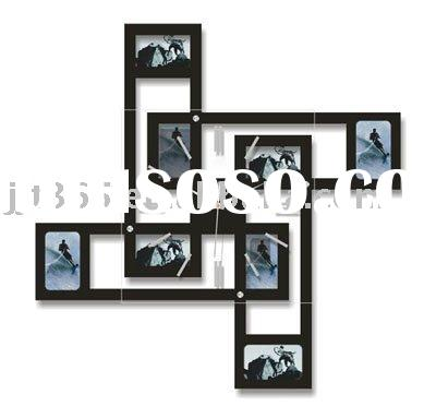 Creative photo frame wall clock promotion product