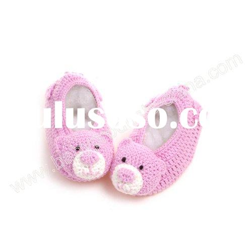 Crochet 3D Animal Baby Shoes Model:RE1204