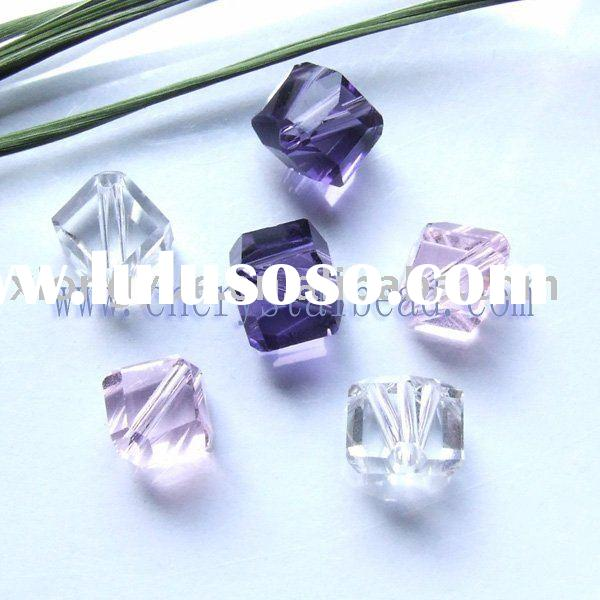 Cube beads for fashion jewelry, shining your life with crystal glass beads