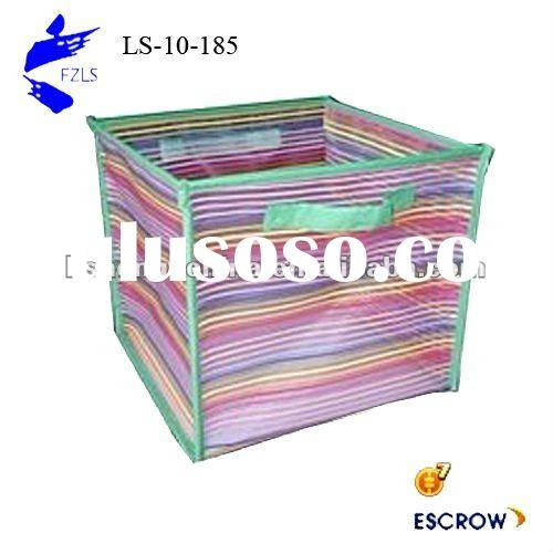 Cube stackable plastic storage bins