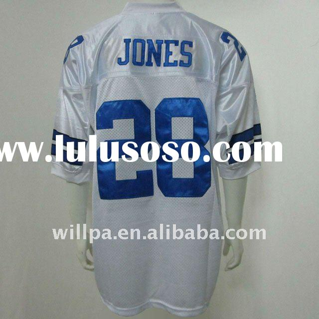 Dallas Cowboys White #28 JONES Rugby Football Jersey, Football Jerseys